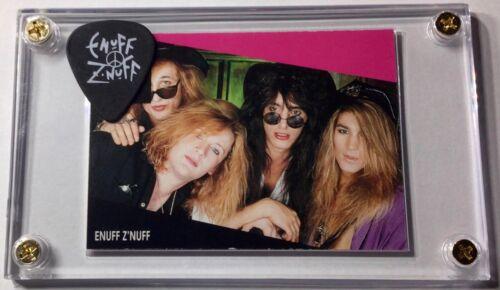 Enuff Z'nuff  Rockstar card #171 / Chip Z'nuff white on blackguitar pick display