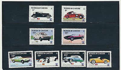 Vintage Automobiles 150Th Anniv Karl Benz Mint Nh Compl Turks   Caicos Set Of 8