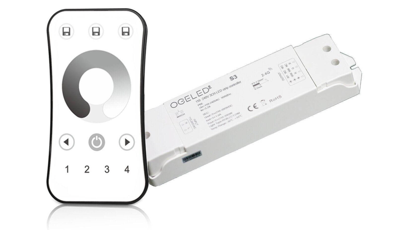 LED Dimmer 230V 3-35W Unterputz UP mit Rahmen Drehdimmer Regler silber 2-Draht