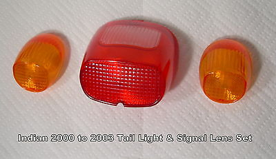 NEW - Indian Motorcycle Chief Spirit Scout Taillight & Turn Signal Lens, Gilroy