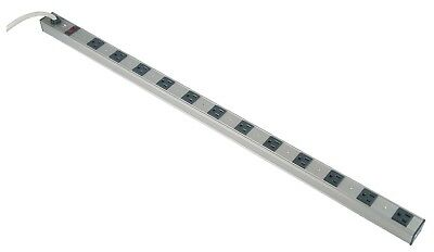 12 Outlet Power Strip Surge Protector Aluminum 300J AC15A 125V 1875W