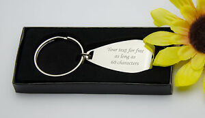 Personalised Chrome Bottle Opener Keyring -  BOXED - FREE Engraved