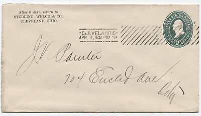 1896 Cleveland Ohio Barry Machine Cancel type A [3488.12]