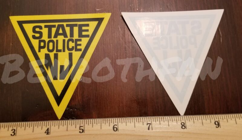NEW JERSEY STATE POLICE INSIDE WINDOW DECAL OFFICIAL STICKER NJ
