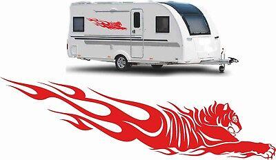 Gebraucht, 2x Wohnwagen Aufkleber Wohnmobil Autoaufkleber Caravan Sticker 120cm Farbwunsch  gebraucht kaufen  Döbeln