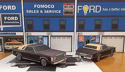 Granada Coupe - Papercraft EZU-make 1976 Ford Granada Ghia Coupe Paper Model Car