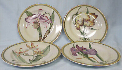 American Atelier 5023 Botanical Salad Plate set of 4 Salad Plate Set
