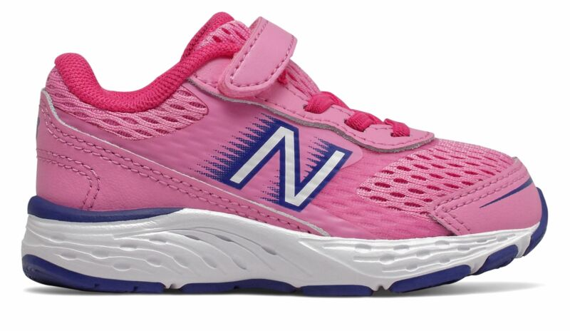 New Balance Infant 680v6 Shoes Pink with Pink & Blue Size 9 W