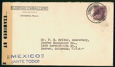 Mayfairstamps Mexico 1942 Chihuahua to Denver Equipment Censored Cover wwo_57675
