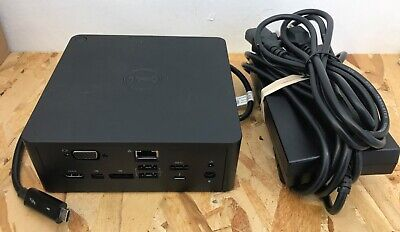 Dell K16A K16A001 USB-C Thunderbolt Docking Station TB16 w/ 130W AC Power Supply