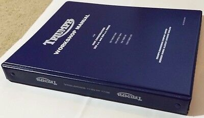 Triumph Workshop Manual 3TA Twenty One 5TA Speed Twin, Tiger 90, T100 ringbinder
