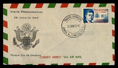 DR WHO 1962 MEXICO FDC JOHN F KENNEDY JFK  g21907
