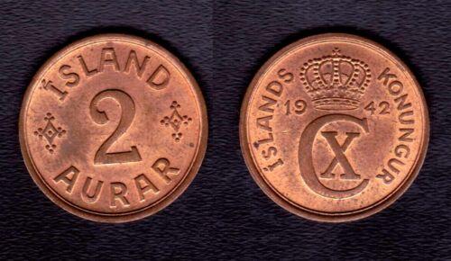 1942 ICELAND 2 Aurar