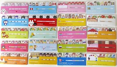 Kawaii Index Sticky Tabs Flags Page Markers Organiser Dividers Animals Chocolate
