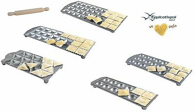 (Ravioli Maker Tray (Pasta Stamp Cutter Mould) - Round/Square/Triangle - Gift Box)