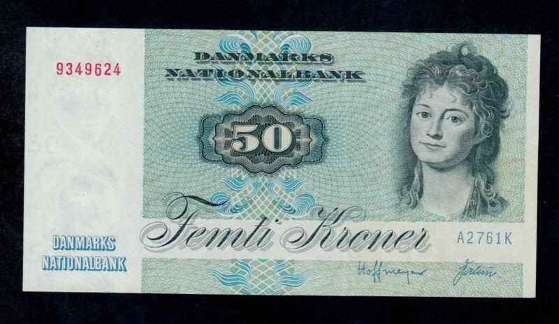 DENMARK  50  KRONER  1976  A2   PICK # 50b  UNC LESS.