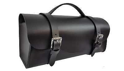 VINTAGE/ CLASSIC TOOL KIT BAG- LEATHER.JAGUAR - HEALEY - MG - MORGAN BLACK/BROWN