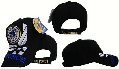 Air Force Wings US USAF Embroidered Black 3D Ball Cap Hat