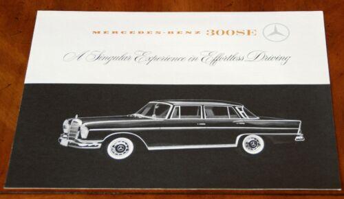 Mercedes-Benz 300SE (W112) brochure prospekt, 1962