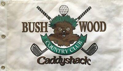 Country Club Golf Pin Flag (Caddyshack Bushwood Country Club Gopher logo golf 12x20 inch pin flag MINT)