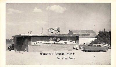 Postcard Nokomis Drive-In Restaurant in Hiawatha, Kansas~118218