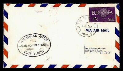 DR WHO 1963 IRELAND LUMERICK FIRST FLIGHT SHAMROCK TO NY USA  g19738