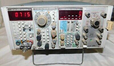 Tektronix Tm504 Power Module W Dc509 Dm501 A Fg501 A Pg501 Powers On