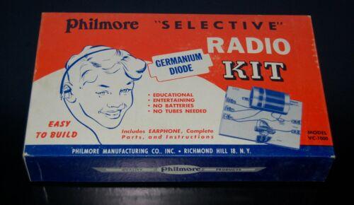 Philmore Selective Crystal Radio Kit VC-1000 Germanium Diode