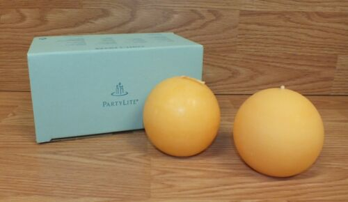 """Genuine PartyLite (Q36435) Leaves of Fun 3"""" Ball Candles in Box **READ**"""