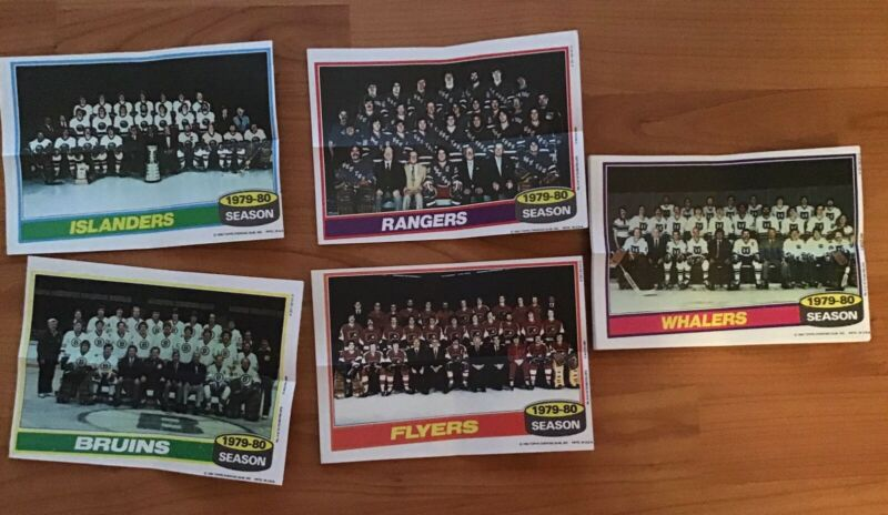 1980-81 TOPPS HOCKEY NHL TEAM MINI POSTER SET of 16 w/ BOURQUE ROOKIE