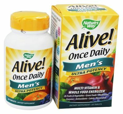 - Nature's Way Alive Once Daily Men's Multi-Vitamin & Whole Food Energizer 60 tabs