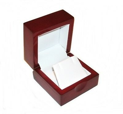 1 Cherry Wood Earring Jewelry Display Gift Box