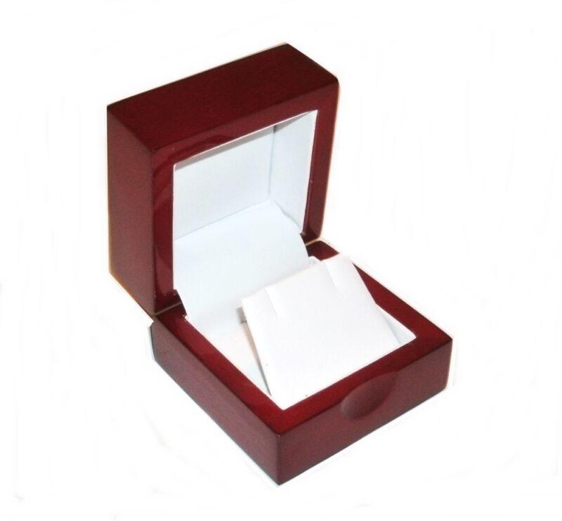 1 Cherry Wood  Earring Jewelry Display Gift Box
