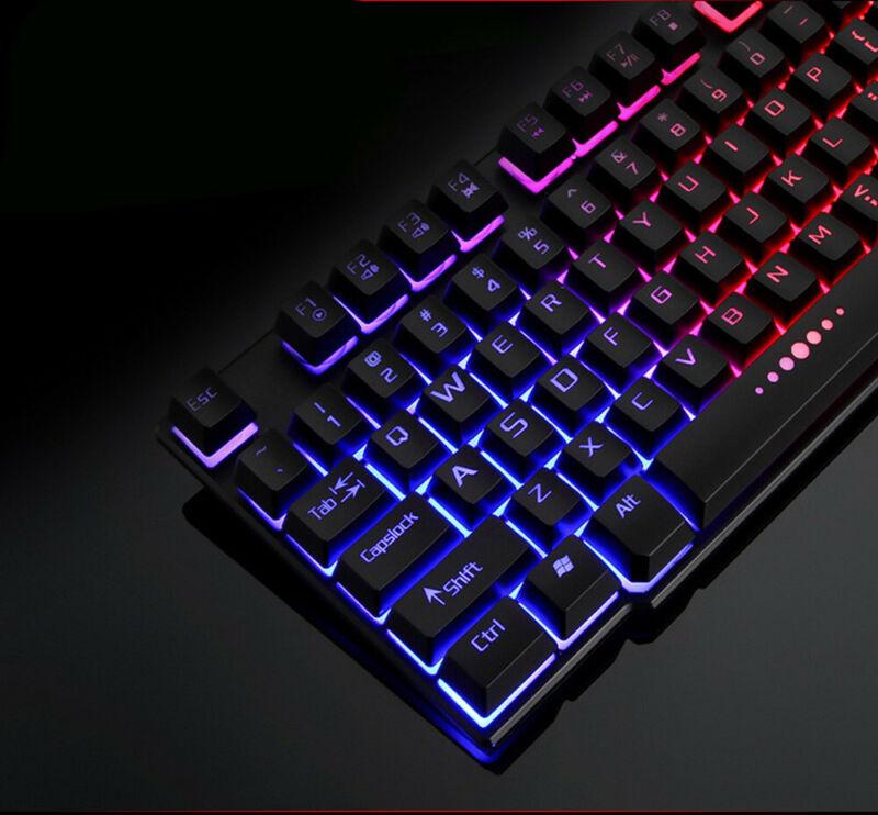 Colorful Crack LED Illuminated Backlit USB Wired PC Rainbow