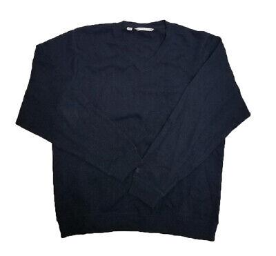 Cutter & Buck Mens Long Sleeve V Neck Pullover Sweater Navy (Cutter & Buck V-neck Pullover)