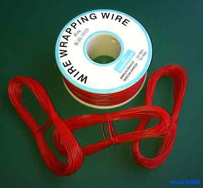 10 metros Cable AWG30 ROJO 30AWG (puentes, etc.) Rigido - WRAPPING WIRE...