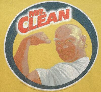 Vtg MR CLEAN T SHIRT Company Logo Tee FUNNY MASCOT Medium/ Small Med/ S M Rare