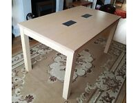 *AS NEW* Homebase 6 Seater 140cm Solid Oak Dining Table in Beech