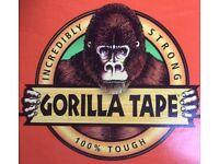 GORILLA TAPE ROLL. 32m. New. Black.