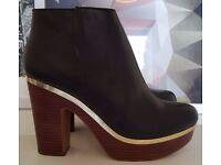Brand New & Unworn - River Island Block-Heel Ankle Boots - Size 6