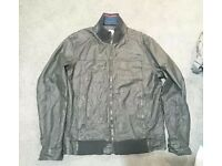 Mens fat face xl leather jacket