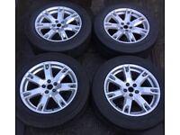 "18"" Genuine Land Rover Evoque Alloy Wheels & Tyres 235/60R18 5x108 Fits Velar Freelander 2 Ford Kuga"