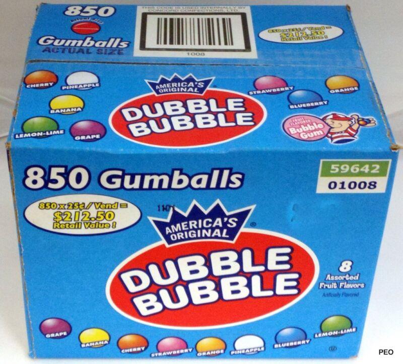 """Dubble Bubble Chewing Bubble Gum 850 Count Bulk Vending 1"""" Assorted Gumballs"""
