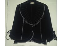 Gold by Michael H Black & White Ruffle Hem Blazer Jacket & Trouser Suit, Wedding Guest Outfit UK 16