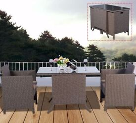 **FREE UK DELIVERY** 3 Piece Rattan Outdoor Bistro Compact Garden Set - BRAND NEW!