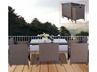 **FAST AND FREE UK DELIVERY** 3 Piece Rattan Outdoor Bistro Compact Garden Set - BRAND NEW!