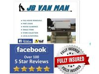 HOUSE REMOVAL SERVICES LOCAL VAN MAN FUKLY INSURED TWO MAN TEAM