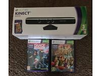 Xbox 360's Kinect with 2 games