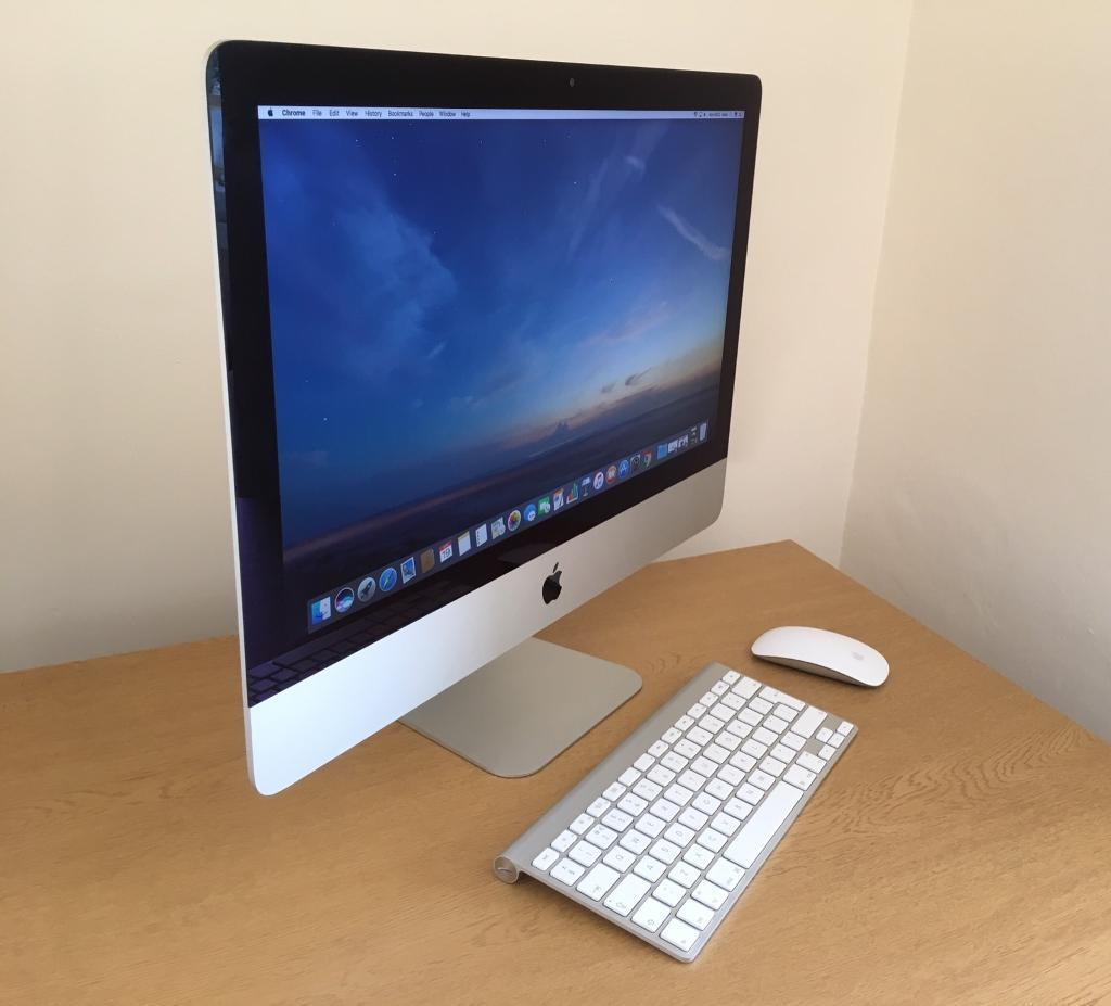 """Apple iMac 21.5"""" PC i5 2.4 Ghz 8GB RAM 500GB HD In immaculate Conditionin Bradford on Avon, WiltshireGumtree - You are viewing Apple iMac 21.5"""" PC i5 2.4 Ghz 8GB RAM 500GB HD In immaculate Condition includes Apple wireless Mouse and Keyboard MID 2014 Comes with the latest OS, macOS Siera and Pre installed software GarageBand iMovie OpenOffice pages, numbers..."""