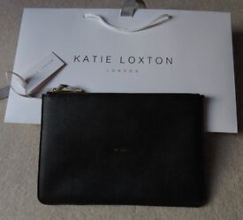 Katie Loxton Ta-Dah Perfect Pouch, Blck with gold lettering. New